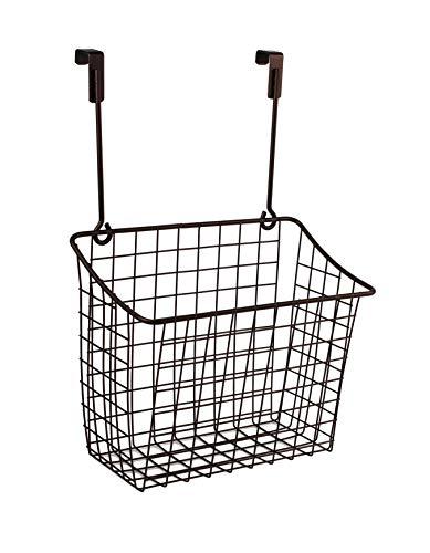 - Spectrum Diversified 56324, Over the Cabinet Grid Storage Basket, Large, Bronze