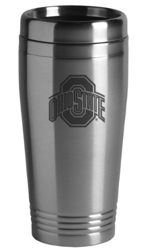 Ohio State University - 16-ounce Travel Mug Tumbler - (Ohio State Buckeyes Travel Mug)