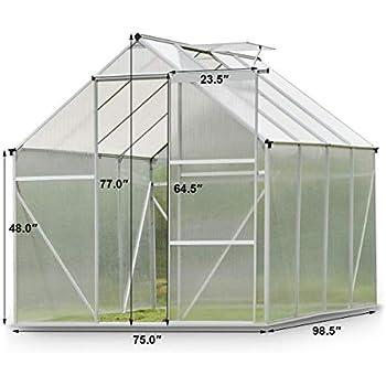 Amazon Com 9trading 6 2 L X 8 2 D Walk In Greenhouse