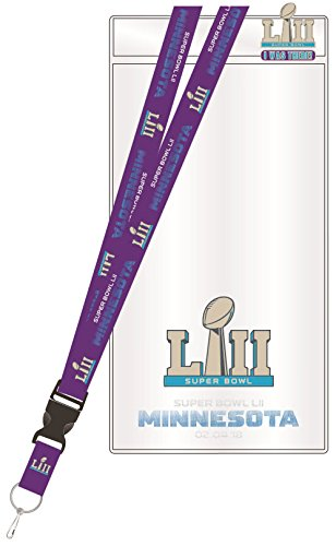 Super Bowl LII Lanyard w/ Ticket Holder &
