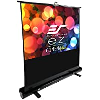 Elite Screens ezCinema Plus Series, 100-inch Diagonal 16:9, Floor Pull Up Portable Projection Screen, Model: F100XWH1