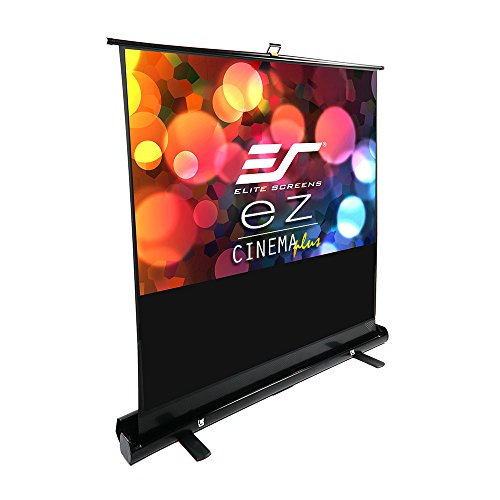 Elite Screens ezCinema Plus Series, 100-inch Diagonal 16:9, Floor Pull Up Portable Projection Screen, Model: F100XWH1 by Elite Screens