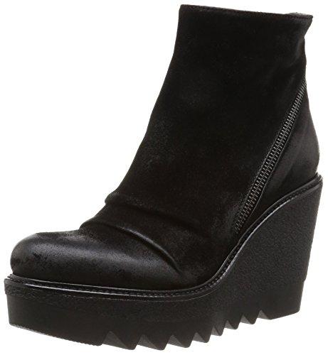 NOW 2250 - Botas de terciopelo mujer negro - Noir (Nero)
