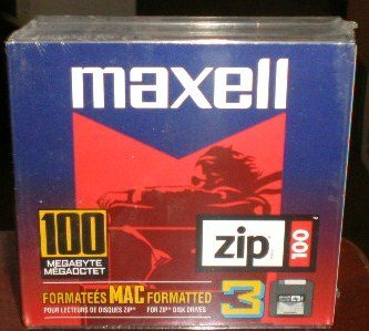 *NEW SEALED* Mac Formatted Zip Disks 3 PACK - 100MB - Item #580130 by Maxell