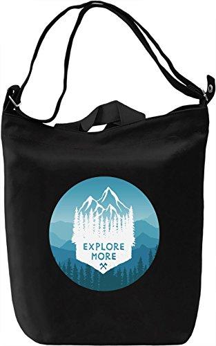 Experience More Borsa Giornaliera Canvas Canvas Day Bag| 100% Premium Cotton Canvas| DTG Printing|