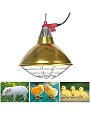 Poultry Heat Lamp, Infrared Heat Lamp for Chicks, Flood Heat Lamp Bulb Heating Lamp Adjustable Thermostat E27 Base Warm Light for Farm Brooder Bulb Chicks Dog Pet