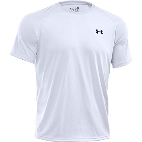 Under Armour Men's Tech Short Sleeve T-Shirt, White/Black, Large
