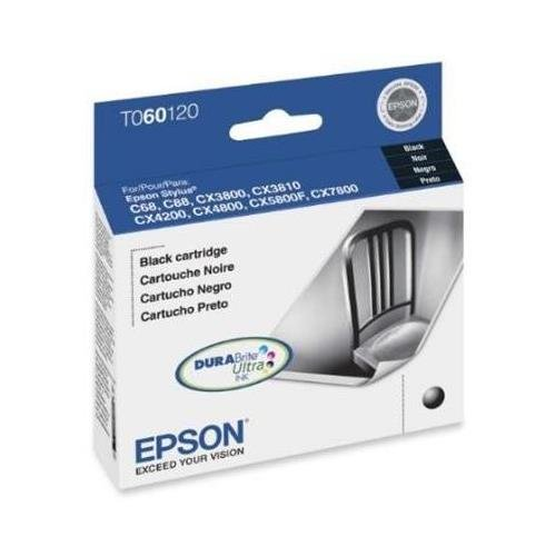 Epson T060120 OEM Ink - (60) Stylus C68 C88 C88+ CX3800 CX3810 CX4200 CX4800 CX5800F CX7800 Black Ink 400 Yield (Epson Stylus Cx4800 Printer)