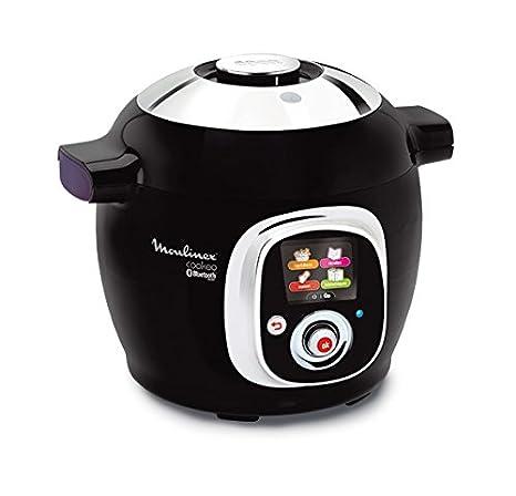 Moulinex Cookeo Connect-Robot de Cocina (Capacidad 6 litros, conectividad con Tablet y Smartphone, tecnología Alta presión), 1200 W, Cerámico, Negro