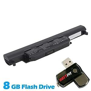 Battpit Bateria de repuesto para portátiles Asus X75VD-TY016D (4400mah / 49wh) Con memoria USB de 8GB GRATUITA
