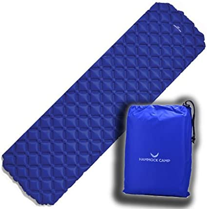 Perfect for Sleeping Bags and Hammocks Veteran Owned Contoured SquareCell Design Ultralight Inflatable Sleeping Pad for Hiking Backpacking and Camping