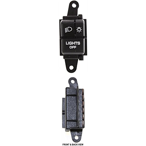 Switch compatible with Jeep Wrangler 87-95 Parking Light Blade Type 6-Prong Male Terminal W/w/Low Beam Dimmer