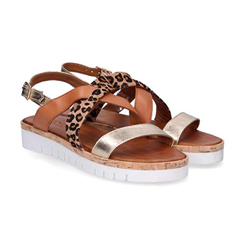 Inuovo 7908gold Or Femme Sandales Cuir wTXqZFT4