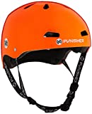 Punisher Skateboards Pro 13-Vent Dual Safety Certified BMX Bike and Skateboard Helmet, Metallic Flake Neon Orange, Youth/Teen 9+
