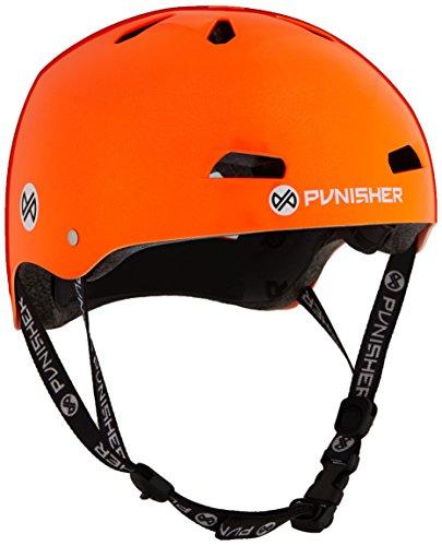 (Punisher Skateboards Pro 13-Vent Dual Safety Certified BMX Bike and Skateboard Helmet, Metallic Flake Neon Orange, Youth/Teen 9+)
