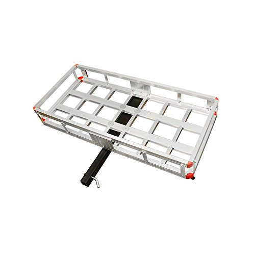 500 Lb Aluminum Cargo Carrier Rack Hauler Storage Hitch Receiver Mount Luggage (Receiver Mount Hitch Carrier Cargo)