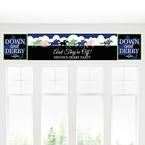 Big Dot of Happiness Personalized Kentucky Horse Derby - Custom Horse Race Party Decorations Party Banner ()