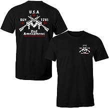 Fantastic Tees Crossed Guns Rights To Bear Arms 2nd Amendment Men's T Shirt