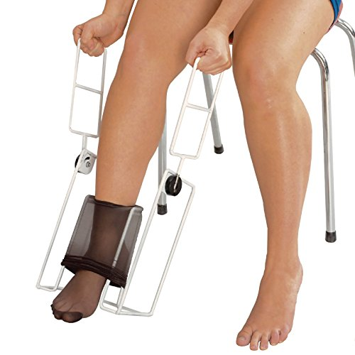 Homecraft Stocking Donner, Compression Sock Aid with Foot Insert and Long Handles for Easy Use, Dressing Aid for Elderly, Disabled, Limited Mobility, Assisted Daily Living Dress Assistant