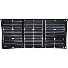 SolarOak 60W Portable Solar Charger with Foldable Solar Panel Outdoor Water Resistant SunPower Mono-Crystalline Battery Charger for iPhone,iPad,iPod,Samsung,Camera,All Cellphone and Electronic Devices