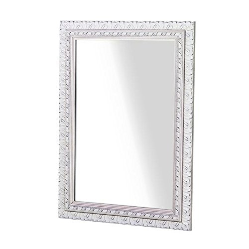 arne ウォールミラー 壁掛け 鏡 姿見 アンティーク 玄関 リビング 幅80cm F-001WM6090 ホワイト B00TOAYKIK ホワイト ホワイト