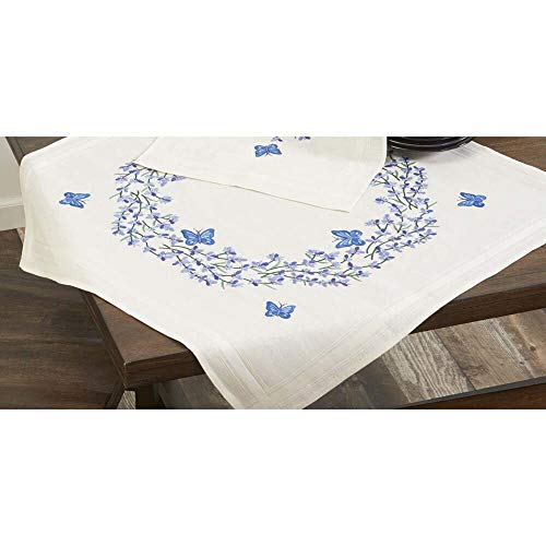 Herrschners® Lavender with Butterflies Table Topper Stamped Embroidery Kit ()
