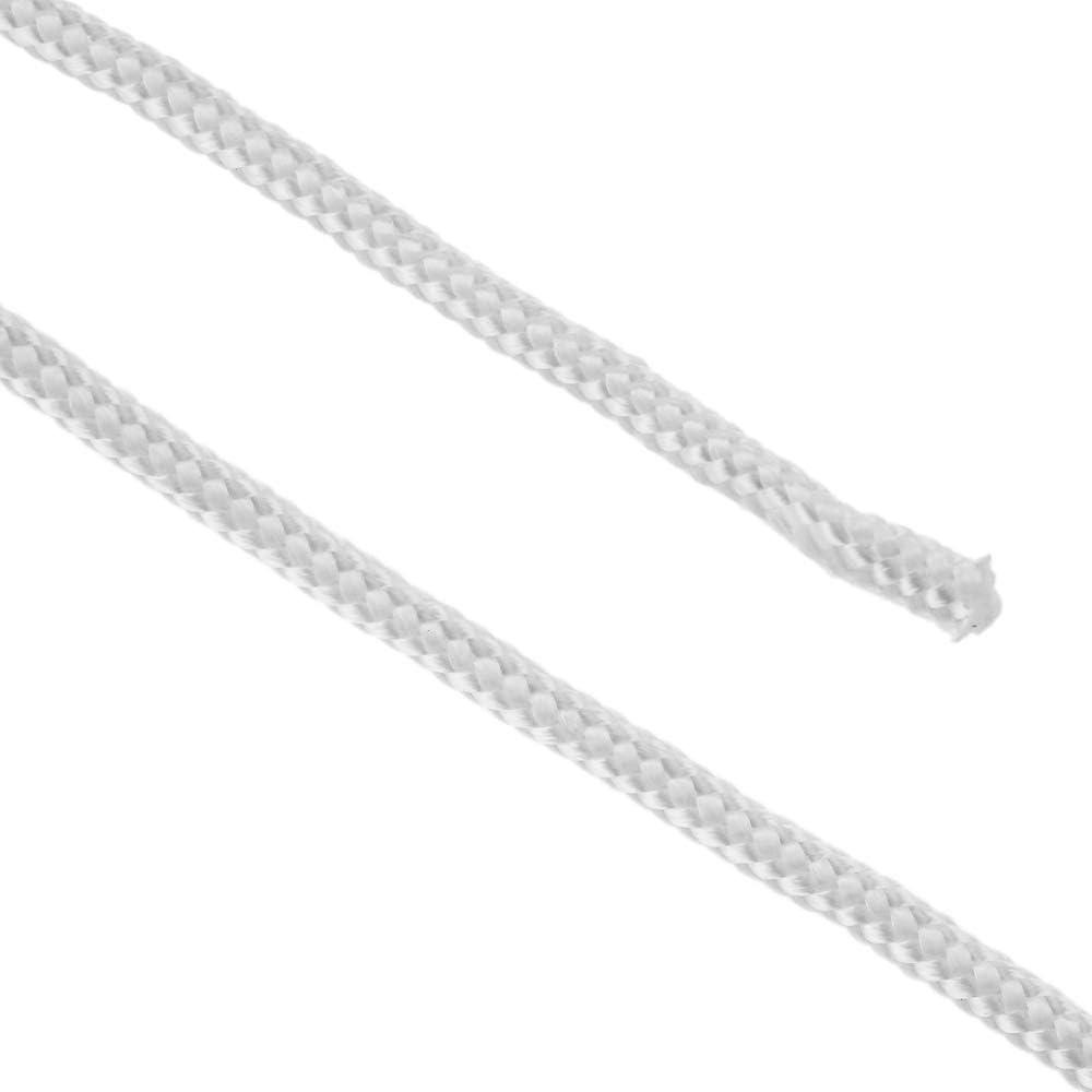 PrimeMatik Geflochtenes Polyesterseil 10 m x 6 mm wei/ß