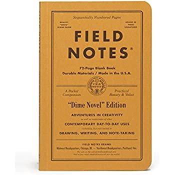 "Field Notes Dime Novel Special Edition Blank Books, 2-Pack (4-1/4"" × 6-1/2"") Fall 2017"