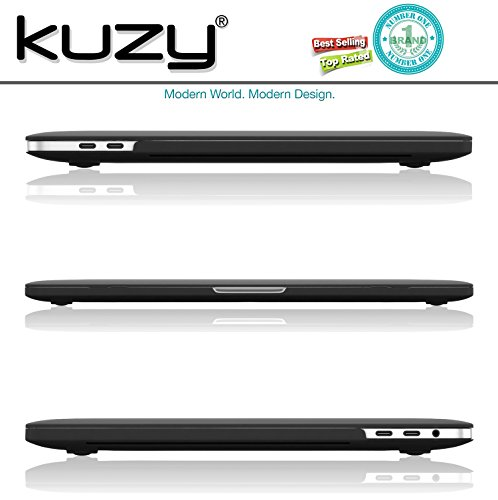 MacBook Pro 13 inch Case 2018 2017 2016 Release A1989 A1706 A1708, Kuzy Plastic Hard Shell Cover for Newest 13 inch MacBook Pro Case with Touch Bar Soft Touch - Black by Kuzy (Image #4)