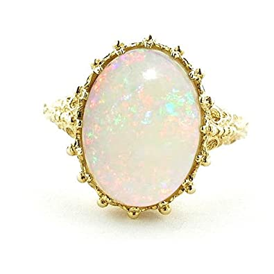 gold listing en a engagement is vintage sg round center ring zoom opal il rose fullxfull
