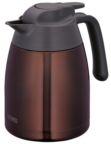 THERMOS stainless steel pot 1.0L clear brown THV-1000 CBW (japan import) by Thermos