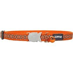 Red Dingo Collar de Gato de diseño, Talla única, Anaranjado (Snake Eyes Orange), Ajustable