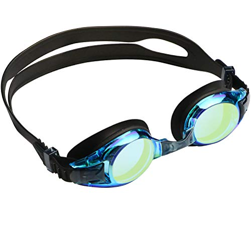 aegend Kids Goggles, Swim Goggles for Kids Age 4-16 Little Boys and Girls Youth Swim Goggle, Clear Vision, Soft Silicone, No Leak, UV Protection, Anti-Fog, Free Protection Case, Black