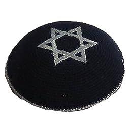 Kippah Magen David Star 17cm Yamaka Yarmulke SkullCap Judaica Jewish Kippa