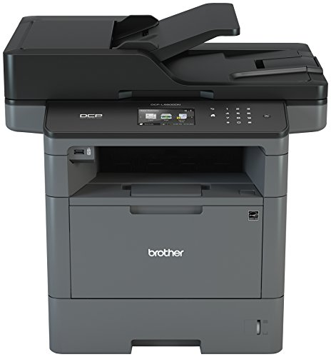 Brother Monochrome Laser Printer, Multifunction Printer and Copier, DCP-L5600DN, Flexible Network Connectivity, Duplex Printing, Mobile Printing, Amazon Dash Replenishment Enabled