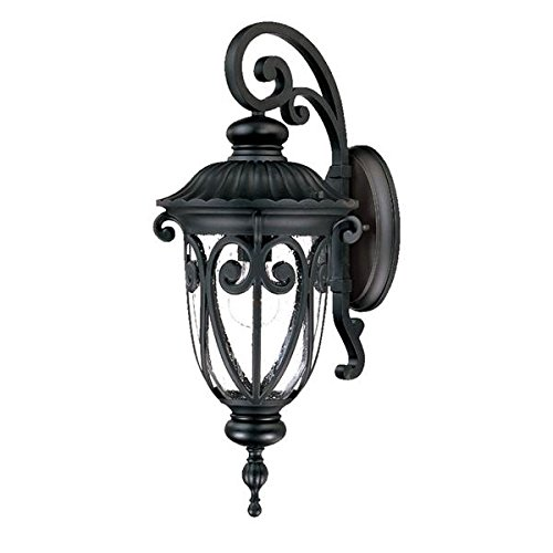 Acclaim 2112BK Naples Collection 1-Light Wall Mount Outdoor Light Fixture, Matte Black Acclaim Lighting Naples Collection