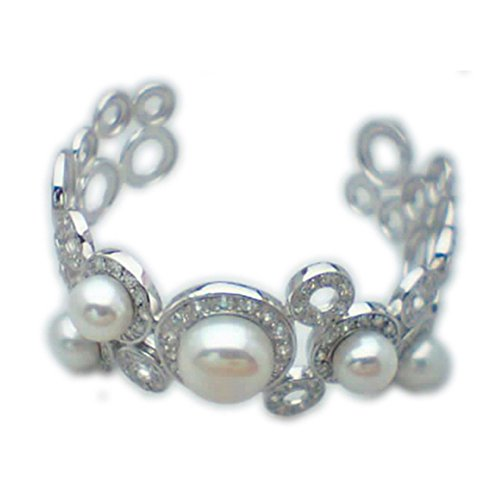 Bracelet en Argent et perles Zircon