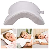 Cervical Neck Pillow for Sleeping,Memory Foam Pillow, Without Pressure - Best Side Sleeper Pillow, Office Rest Pillow,Travel Pillow, CCidea Arched Ice Silk Fabric Couple Pillows