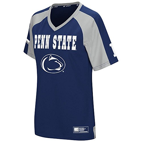 Womens NCAA Penn State Nittany Lions Torch Football Fashion Jersey - M