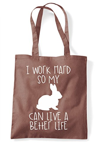 Shopper Themed Have So Work I Animal Life Chestnut Hard Funny Cute Rabbit A My Bag Better Tote Can qwfYUaxgOY