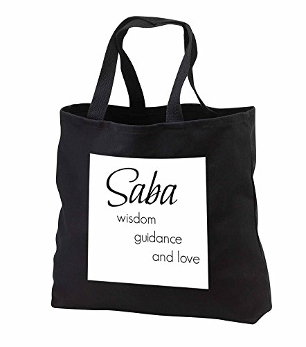 Price comparison product image BrooklynMeme Sayings - Saba wisdom, guidance, love - Tote Bags - Black Tote Bag 14w x 14h x 3d (tb_253727_1)