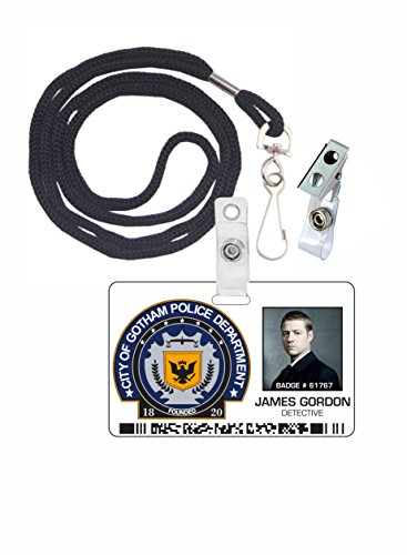 (Jim Gordon, Gotham City Police, Batman, Novelty ID Badge Film Prop for TV Costume and Cosplay • Halloween and Party)