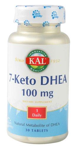 Supplément DHEA KAL 7-Keto, 100 mg, 30 comte