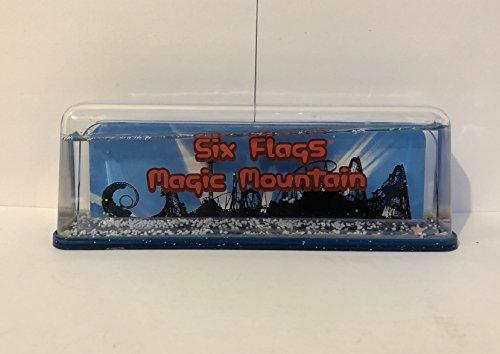 Price comparison product image Six Flags Magic Mountain Exclusive Blue Trim Coaster Snow Globe
