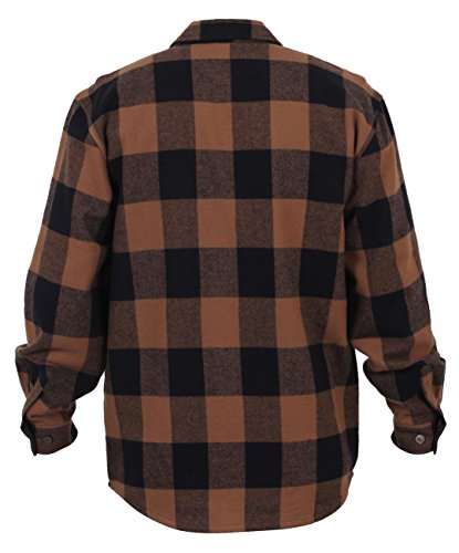 Rothco heavy weight plaid flannel shirt for cheap for Heavy plaid flannel shirt