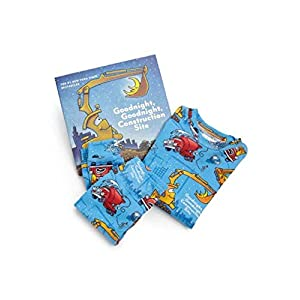 Books to Bed Little Boy's Goodnight, Construction Site Pajama & Book Set