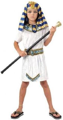 Boys Toys - Disfraz de faraón egipcio para niño, talla 6-8 años ...