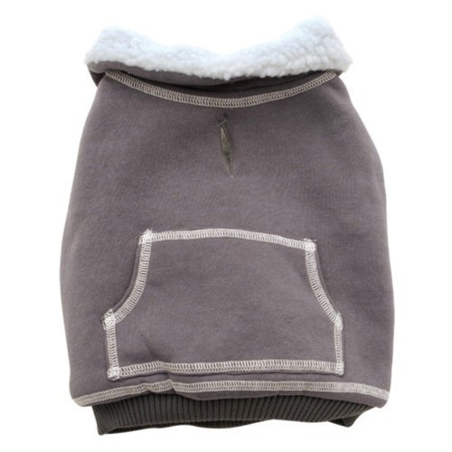 Dogit Dog Sweater with Fleece Line, Medium, Gray, My Pet Supplies