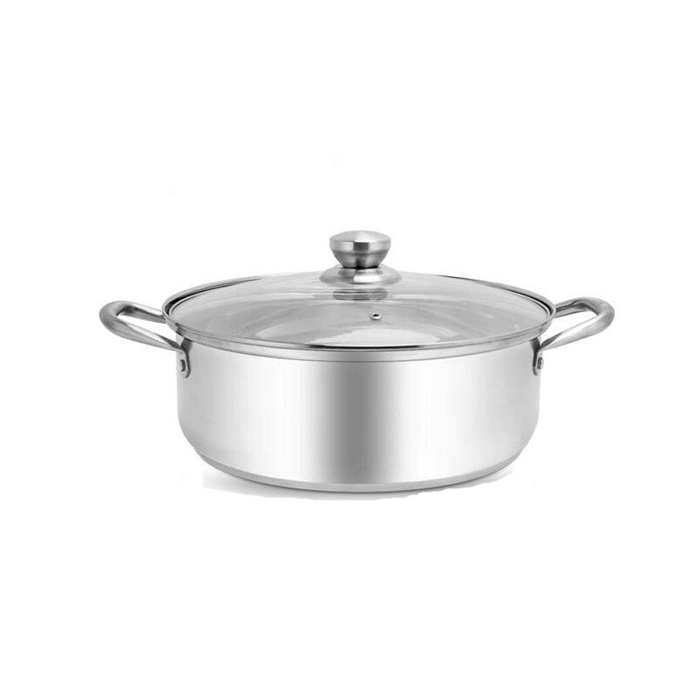 高品質のストックポット、304ステンレス鋼、料理を調理するための多目的ポット、さまざまなサイズで利用可能、小さい鍋の直径10.4インチ高4.4インチ - シルバー (Size : 28cm) 28cm  B07RLKSWC1