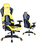 Ergonomic Gaming Chair High Back Computer Chair (Yellow/Black)